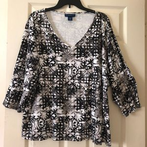 PLUS KAREN SCOTT Blouse Plus Size 3X